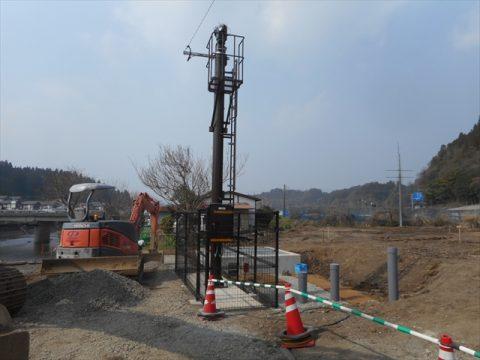 熊本県内 河川監視カメラ設置工事