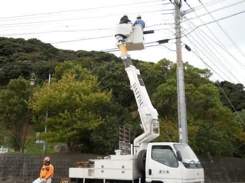 某通信会社様 熊本地区 光方式工事